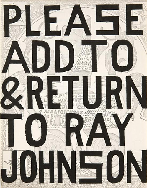 Please Add and Return to Ray Johnson