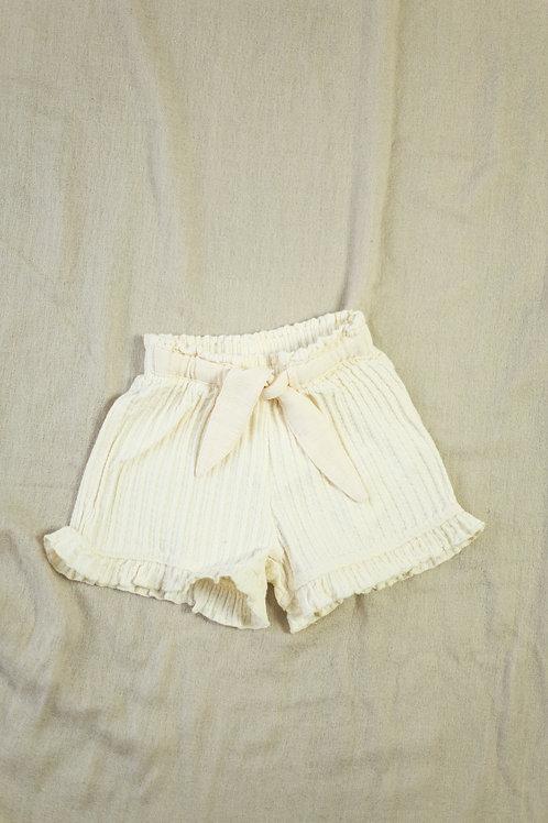 Shorts med rysjer str. 80