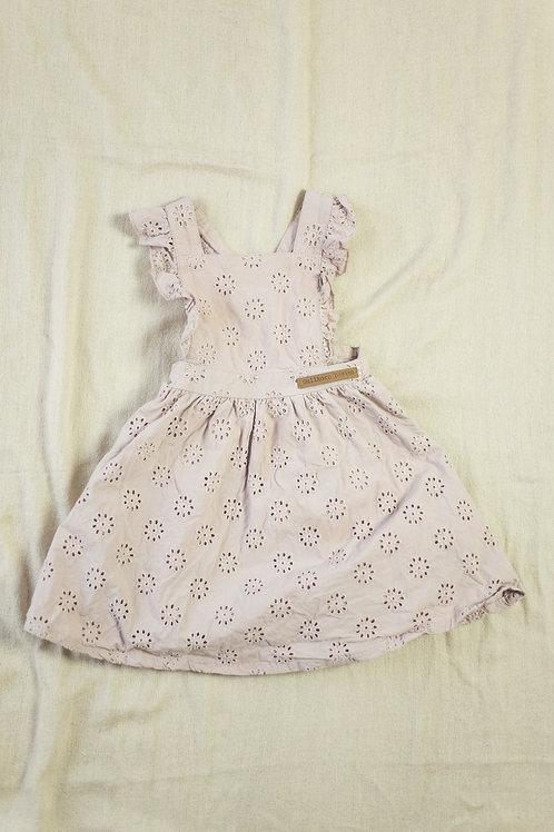 Gullkorn kjole med rysjer str. 80