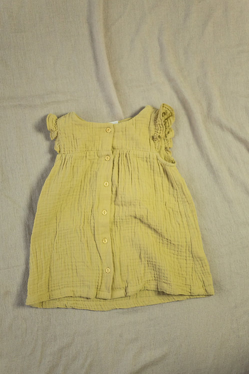 Kjole med rysjer str. 74
