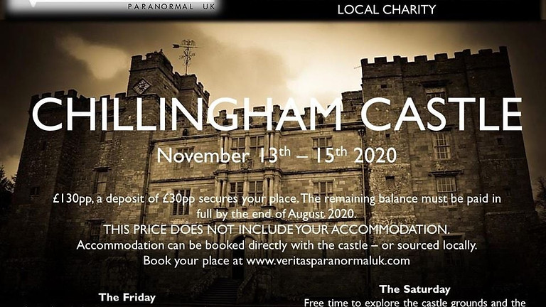 SOLD OUT - Chillingham Castle Weekend