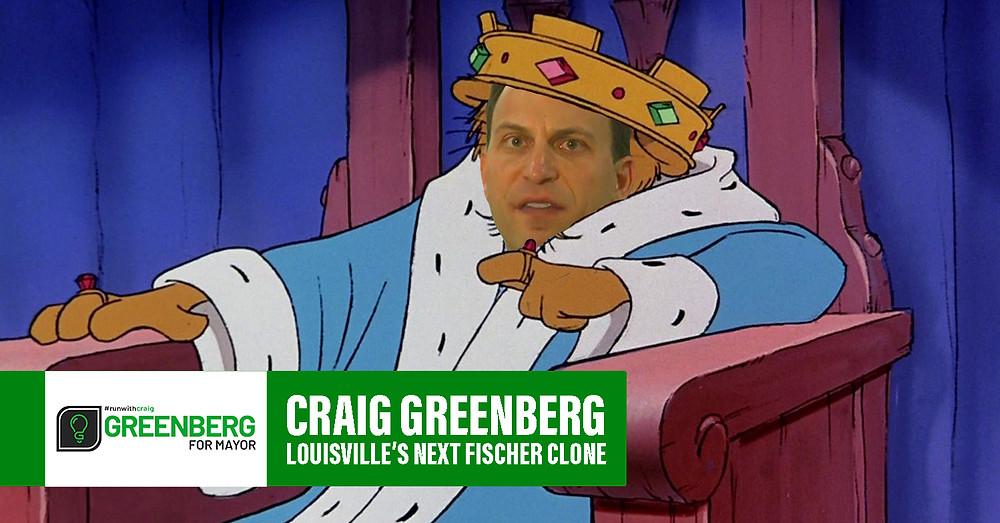 Craig Greenberg, Louisville's next Greg Fischer clone
