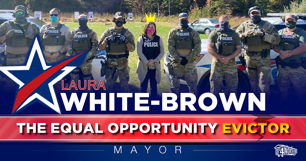Morehead mayor Laura White-Brown with the police
