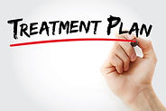 Hand writing Treatment plan with marker,