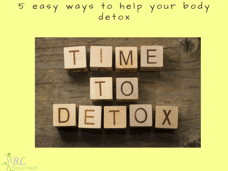 5 ways to help your body DETOX