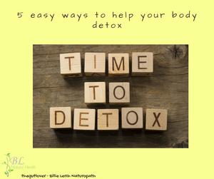 5 easy ways to help your body detox