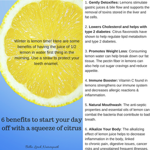 The benefits of citrus fruit