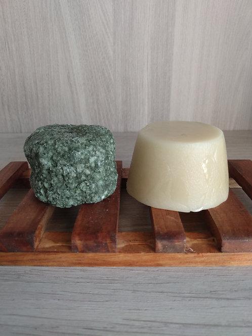 Barra Hidratante + Shampoo Sólido