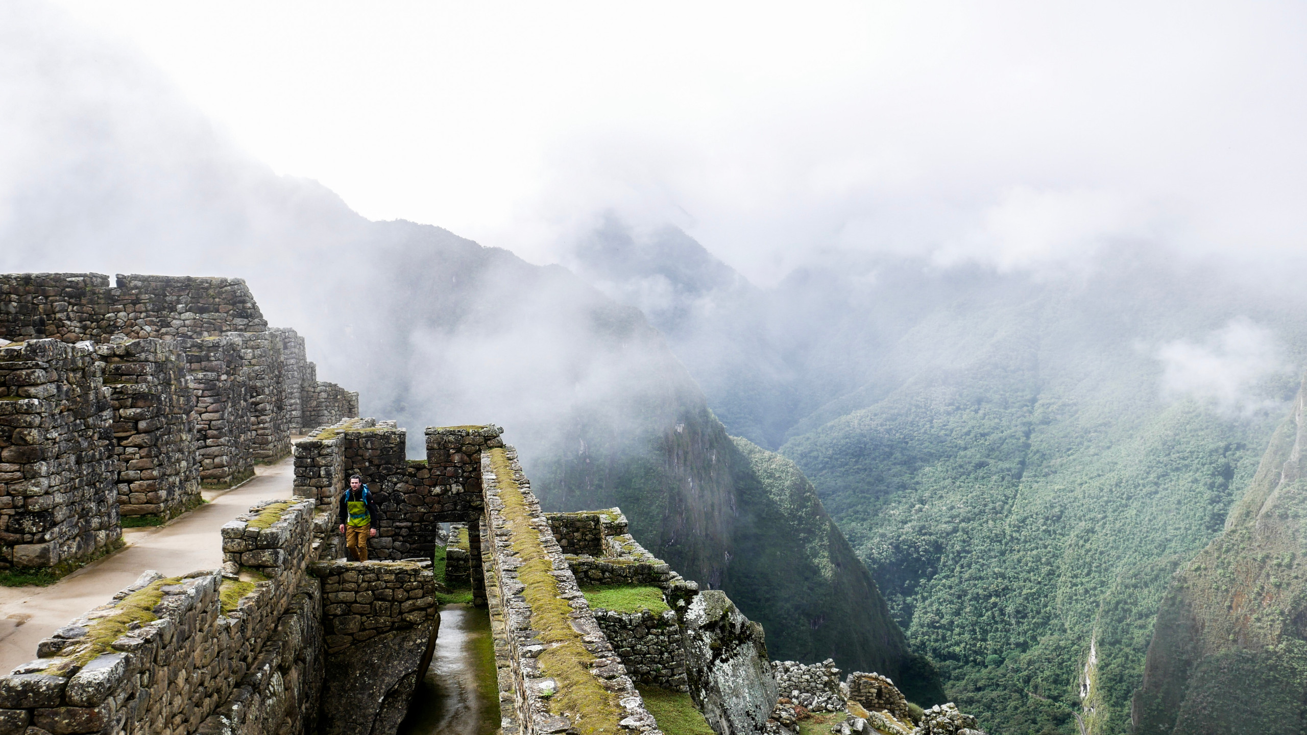 view on Sacred Valley from the city of Machu Picchu