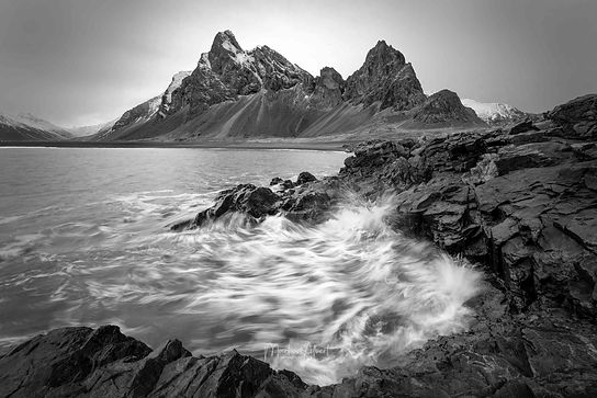 Eystrahorn black and white