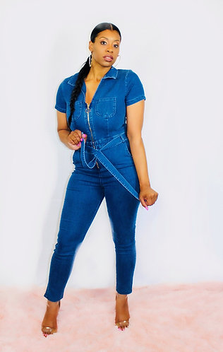 "The ""Candace"" Denim Jumpsuit"