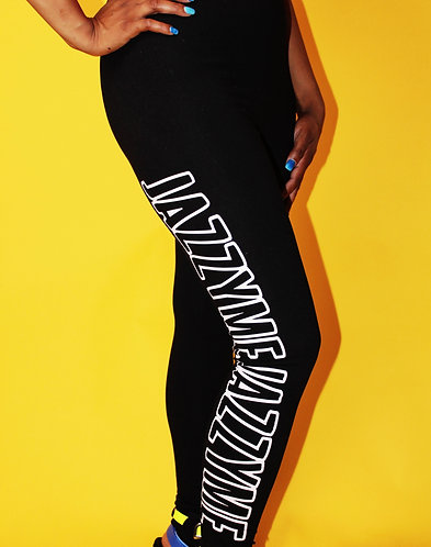 "BLACK ""JazzyMe Signature"" Leggings"