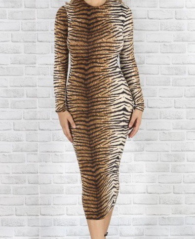 "The ""Kesa"" Tiger Dress"