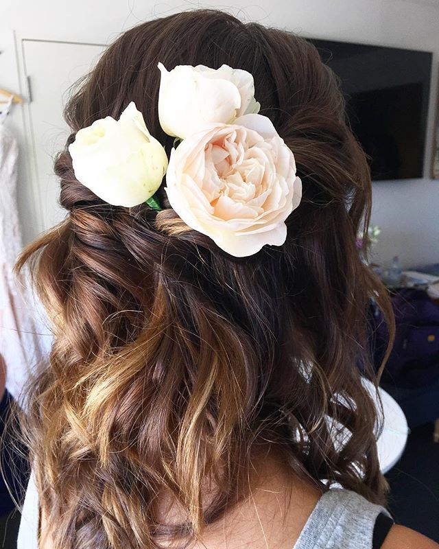 BRIDAL HAIR 👰🏽 soft, wavy, half up & f