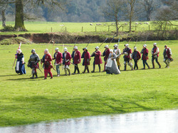 Leaving the field at Warwick Castle