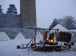 Camp in the snow