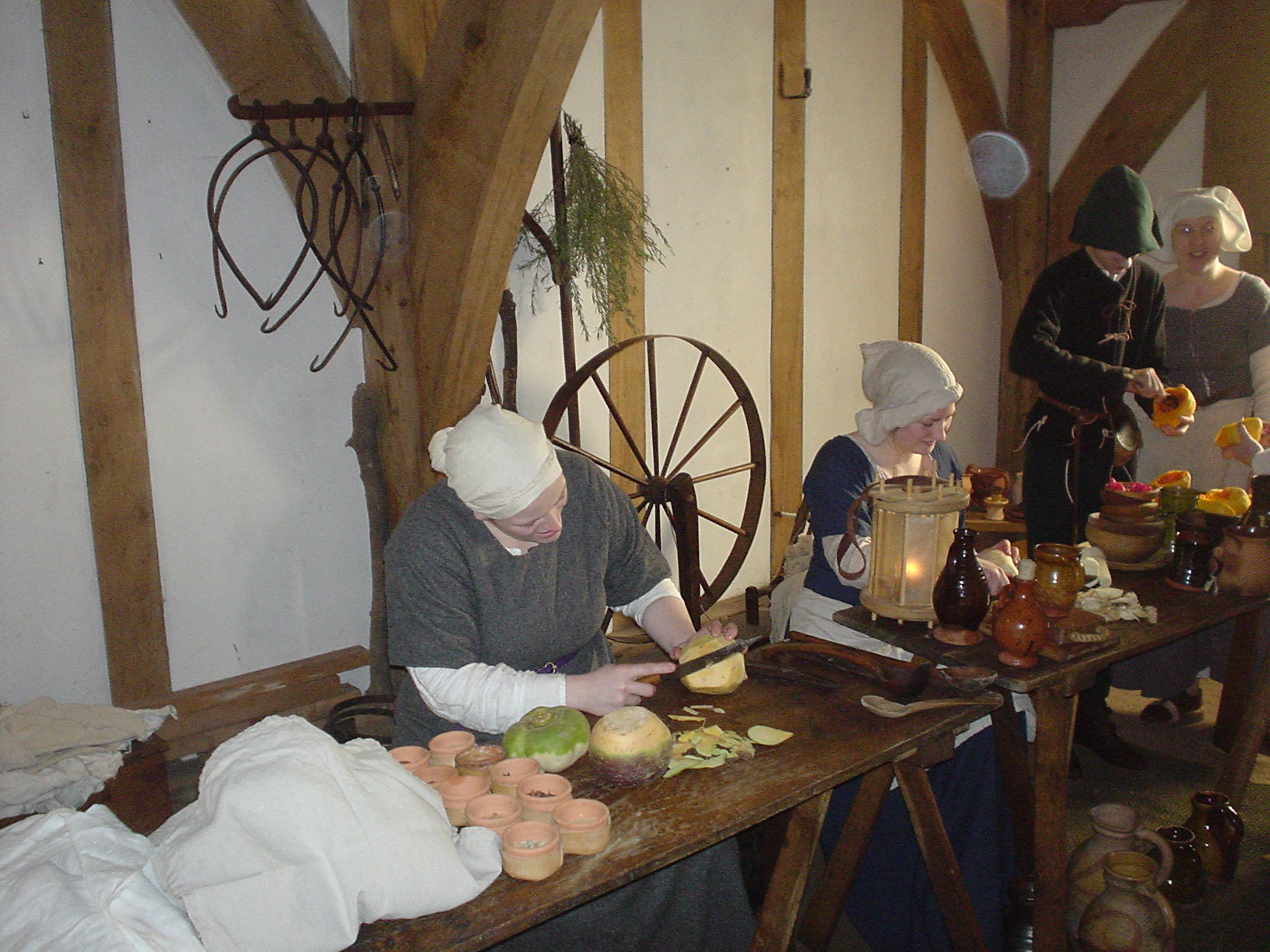 Preparing a meal at Barley Hall
