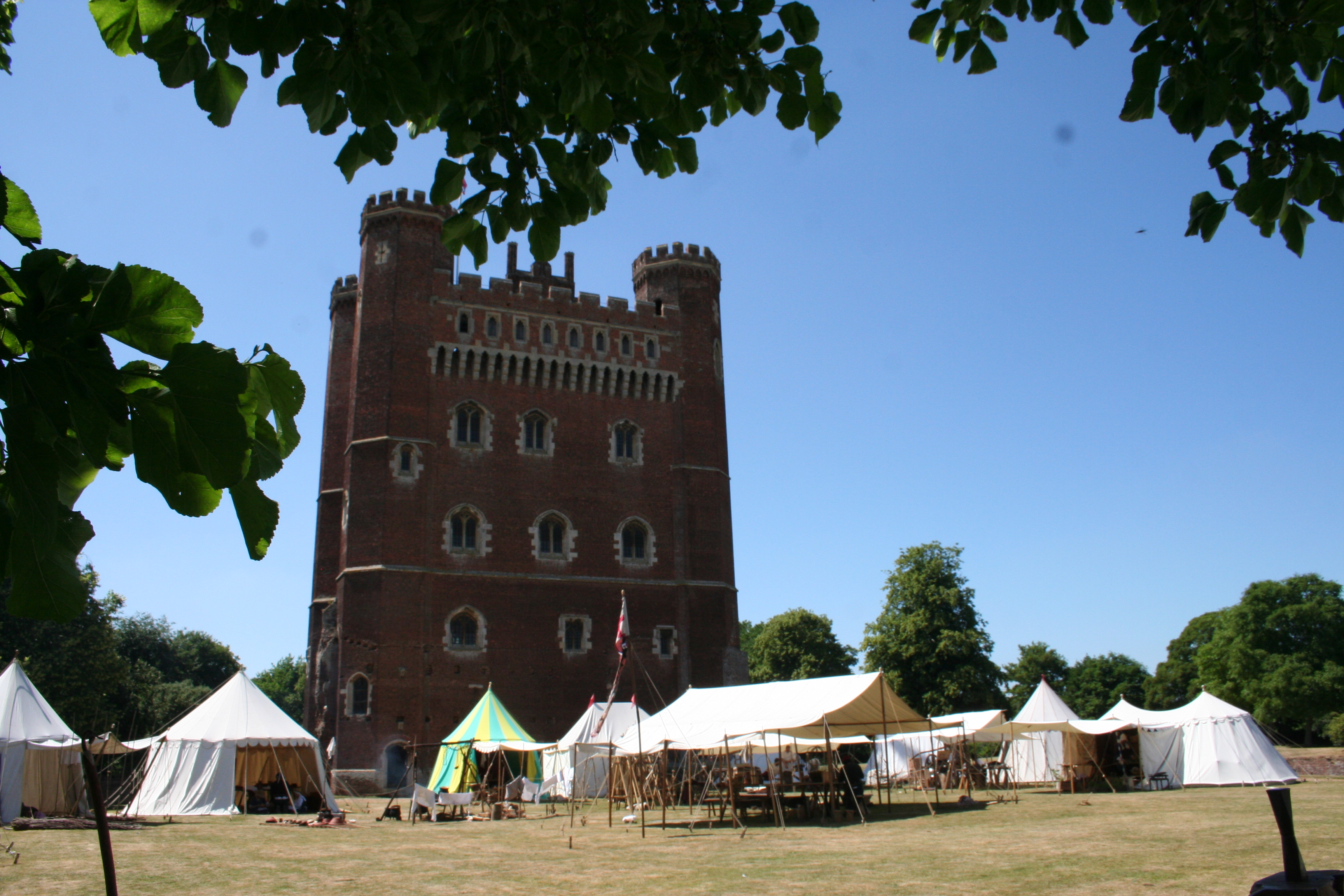 Clarence camp and Tattershall Castle