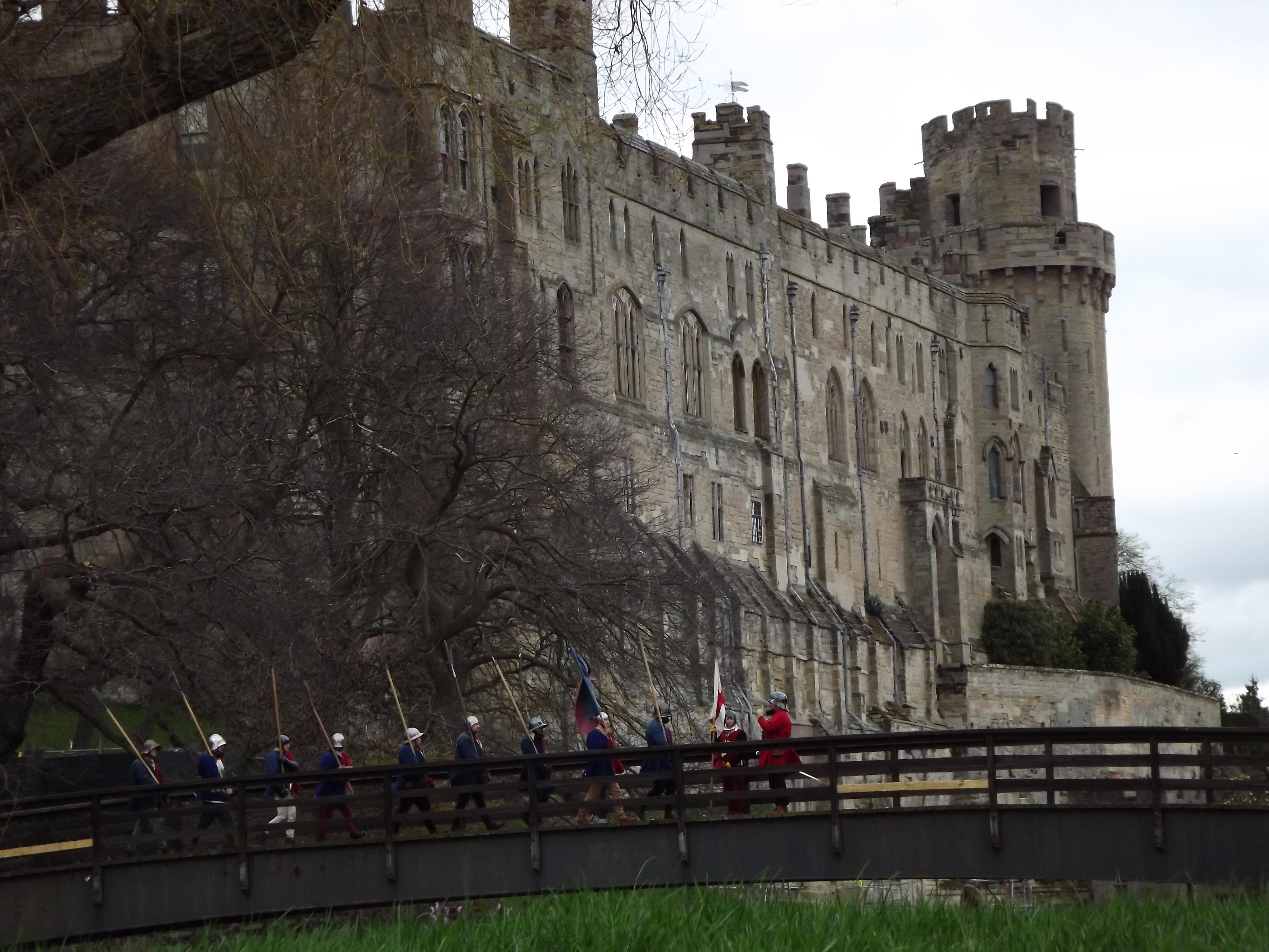 Heading into battle at Warwick Castle