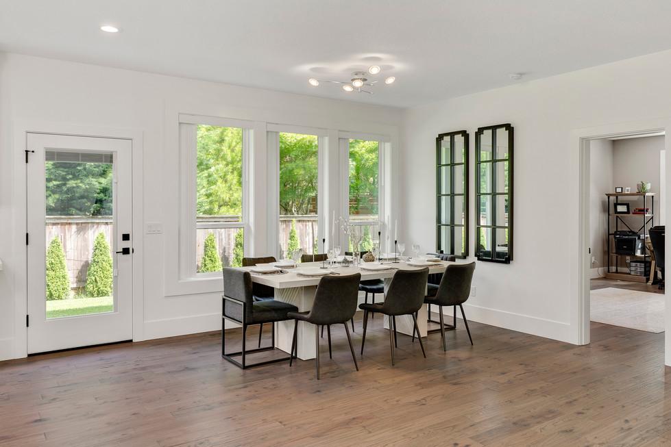 Dining Room / Backyard Door Furnished