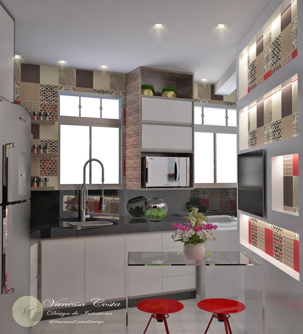Cozinha e lavanderia conjugadas