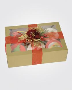6 Christmas Cupcakes CS0018