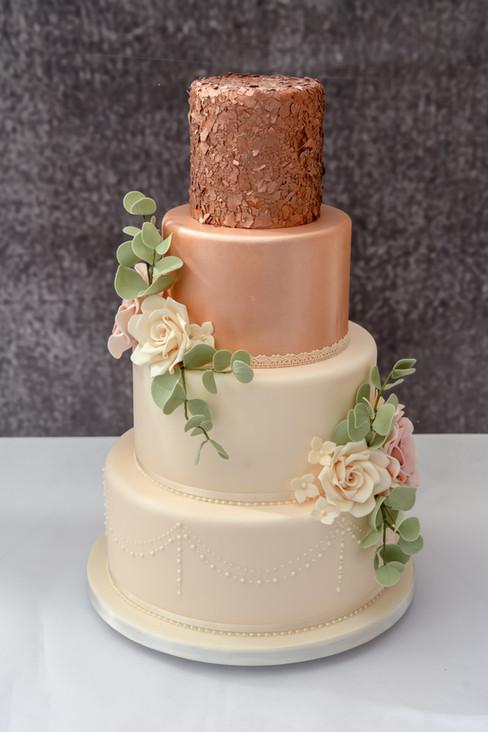 Rose Gold  Wedding Cake WC20219