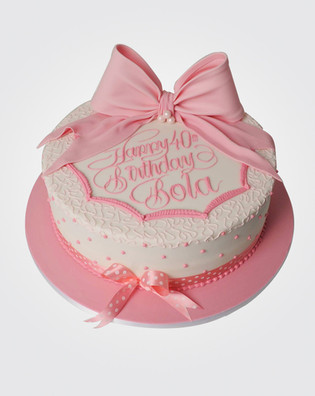 Pink Bow Cake CL3421