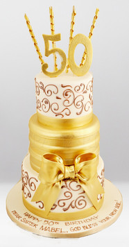 50th Birthday Cake CL0624