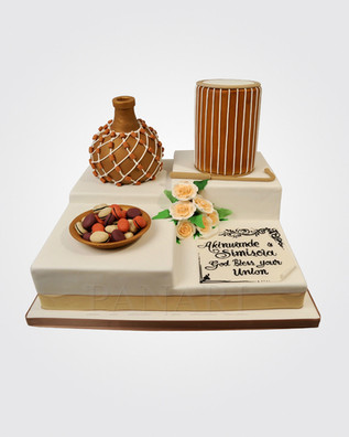 African Engagement Cake AFC4111