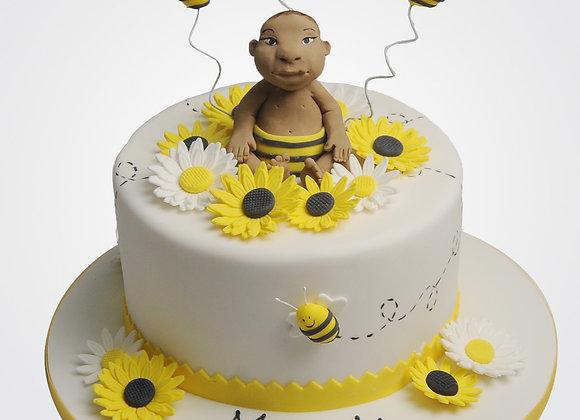 Christening Bee Cake CG1046