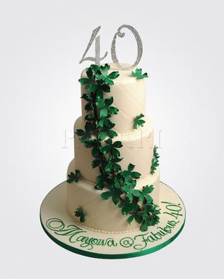 40th Cake CL3362.