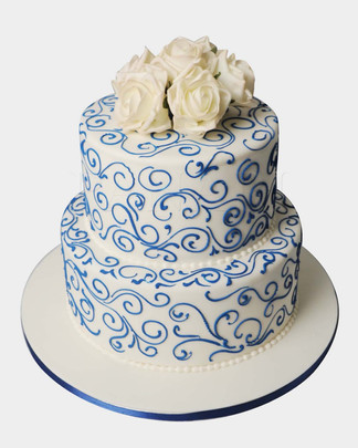 Swirls & Roses Cake CL3888