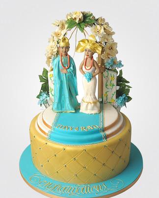 African Wedding Cake AFC3286
