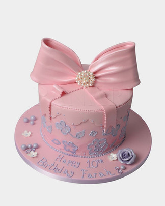 Pink Bow Cake CL3431