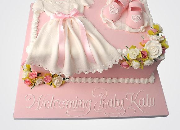 Christening Dress Cake CHB6635
