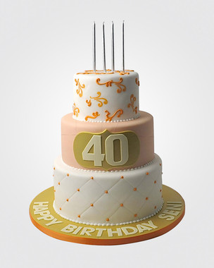 40th Birthday Cake CL1411