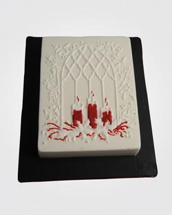 Candlelight Christmas Cake 9272