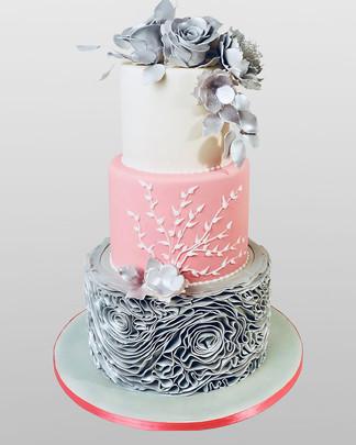 Frilled Bea Wedding Cake WC0663