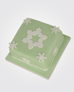 Snowflake Christmas Cake CS1692