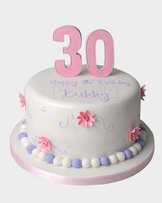 DAINTY THIRTIETH BIRTHDAY CAKE ST4919 2