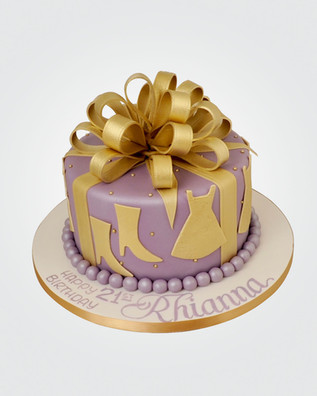 Gold Bow Cake CL7521