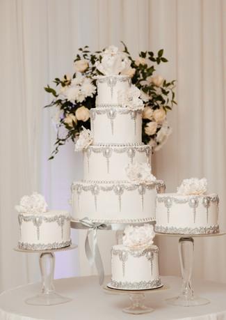 Embellished Silver Wedding Cake WC20211