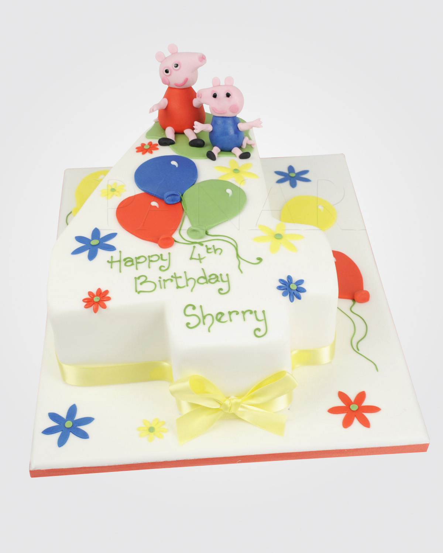 Peppa & George Cake PE0066