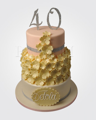 40th Birthday Cake CL0593