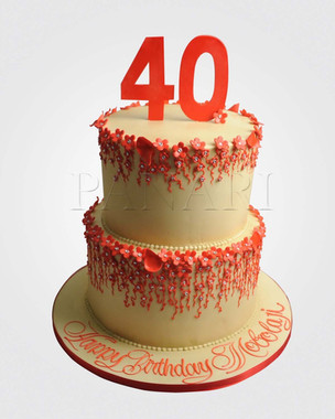 40th Birthday Cake CL2329