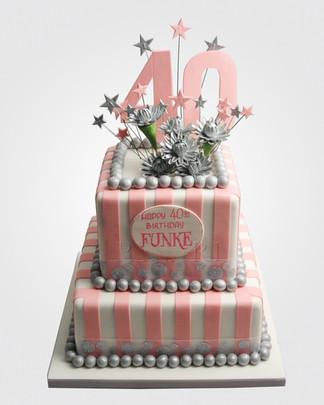 40th Birthday Cake CL8584