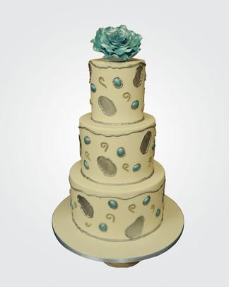 Blue Rose Wedding Cake WC7745.jpg