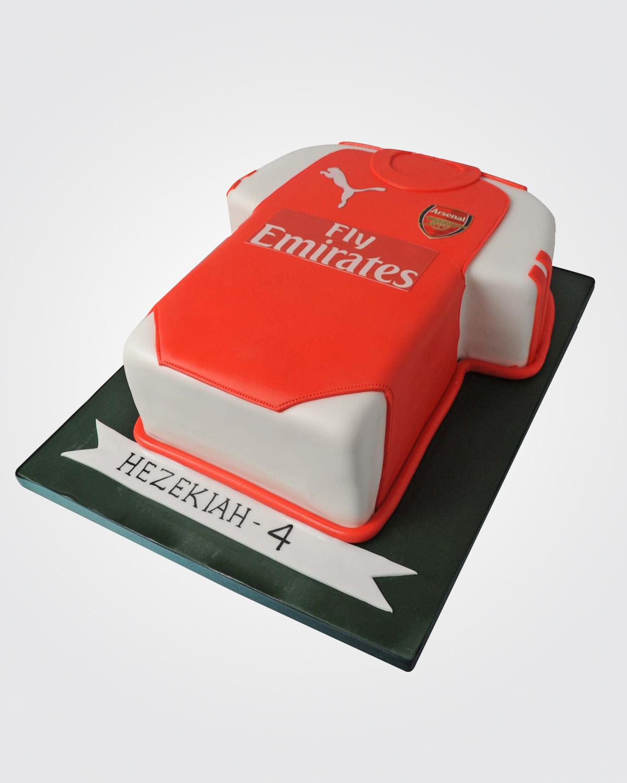 Arsenal Tshirt Cake SPH0433