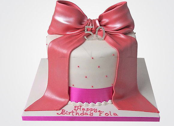 Pink Bow Cake CL9998
